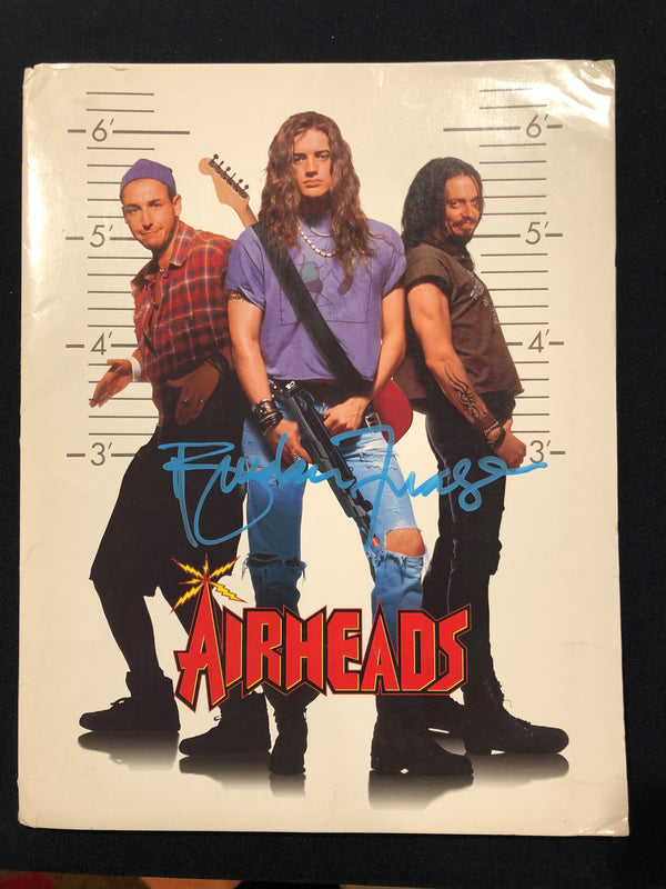 BRENDAN FRASER - Airheads Signed Press Kit Folder by Brendan Fraser