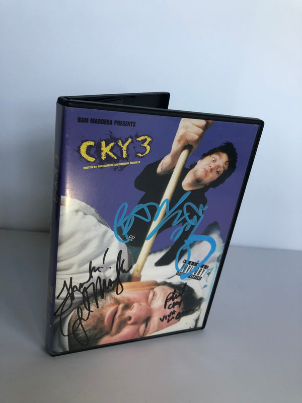 CKY3 DVD Signed by: Bam, Phil and April Margera