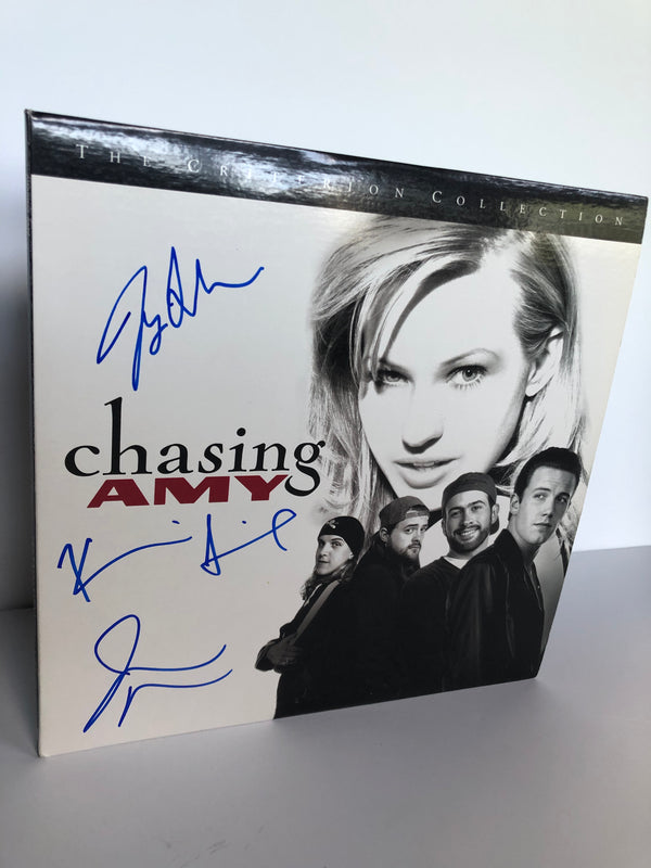 Chasing Amy Laserdisc Signed by Joey Lauren Adams, Jay Mewes and Kevin Smith