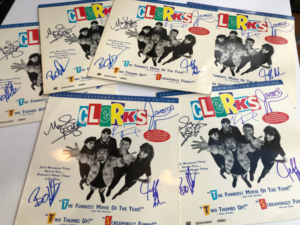 Clerks Laserdisc (Signed by Kevin Smith, Marilyn Ghigliotti, Jason Mewes, Jeff Anderson, and Brian O'Halloran)