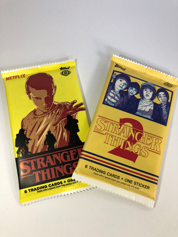 Stranger Things Trading Cards Seasons 1 & 2 Sealed Pack Lot