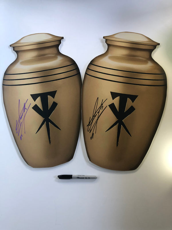 The Undertaker Signed Thick M3 Foam Board Urn