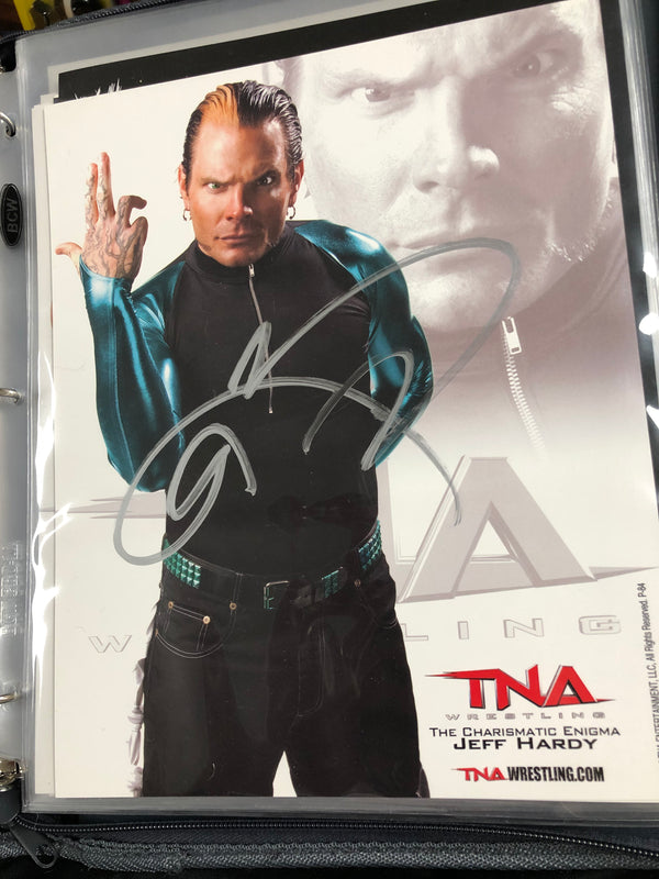 Jeff Hardy TNA Promo Signed