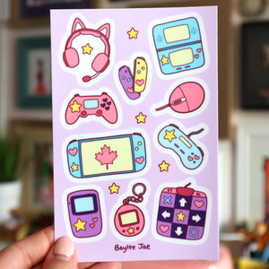 """Video Game"" Sticker Sheet [PRE-ORDER]"