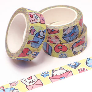 """Mail Cat"" Washi Tape"
