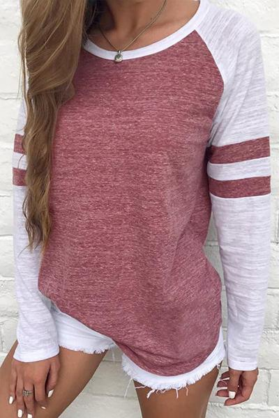 long-sleeve-round-neck-color-block-stripe-sleeve-raglan-t-shirt