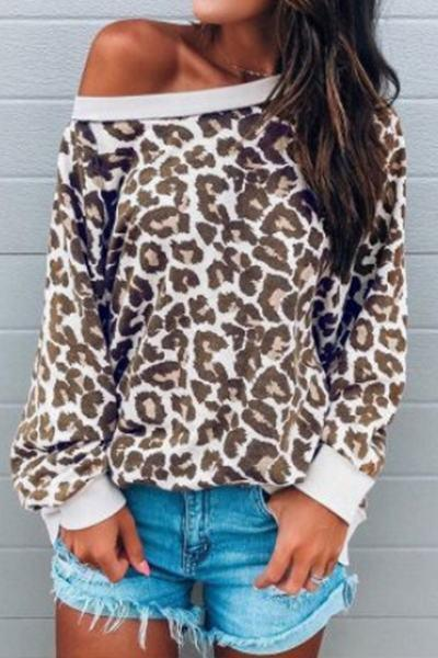 beige-brown-cuff-sleeve-boat-neck-cool-leopard-animal-print-sweatshirt