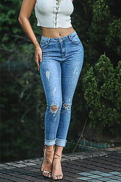 high-rise-skinny-fit-pearl-detail-on-trend-distressed-blue-denim-jeans