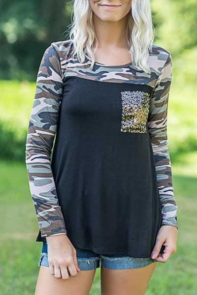 sequin-pocket-long-sleeve-round-neck-urban-camouflage-t-shirt