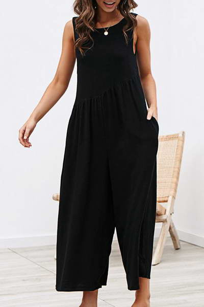 sleeveless-wide-leg-cropped-flattering-romper-solid-color-jumpsuit