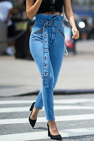 high-waist-slim-fit-belted-denim-frayed-hem-edgy-blue-jeans