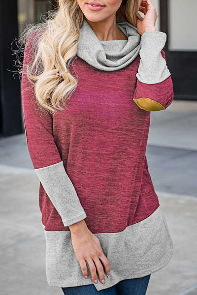 Color Block Cowl Top
