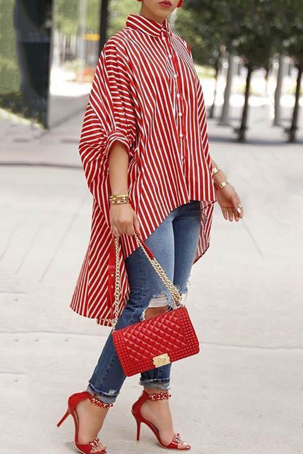 Irregular Stripe Shirt
