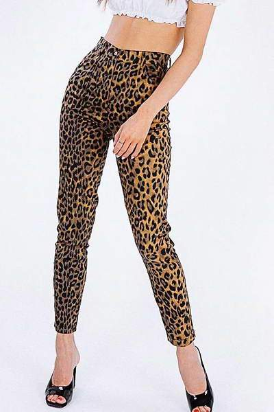 brown-black-high-waist-slim-fit-pants-animal-leopard-print-jeans