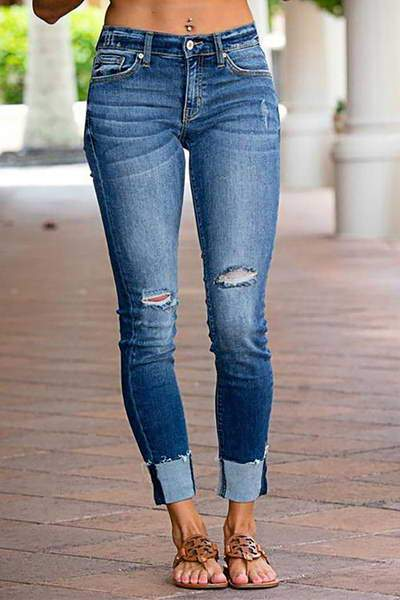 low-rise-skinny-fit-cuffed-faded-blue-denim-distressed-ripped-jeans