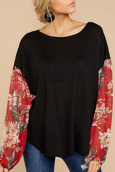 Contrast Sleeve T-Shirt