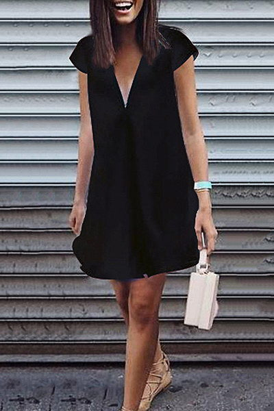 Simple Tunic Shift Dress