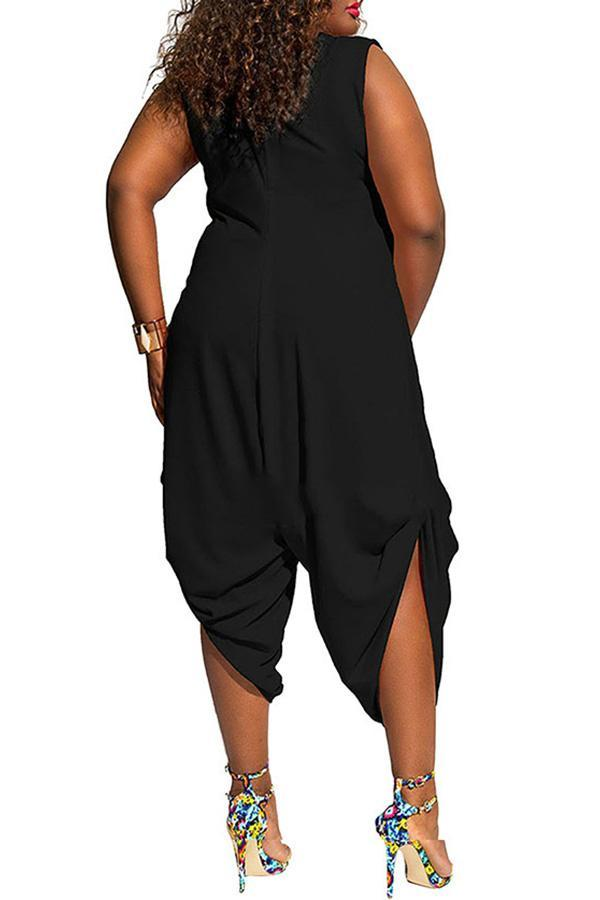 Cropped Cowl Neck Romper