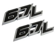 2017 FORD F250 SUPER DUTY 67L DOOR EMBLEM SET Image