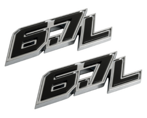 F250 F350 Super Duty 6.7L Door Emblem Set 2017 2018 - FordPartsOne