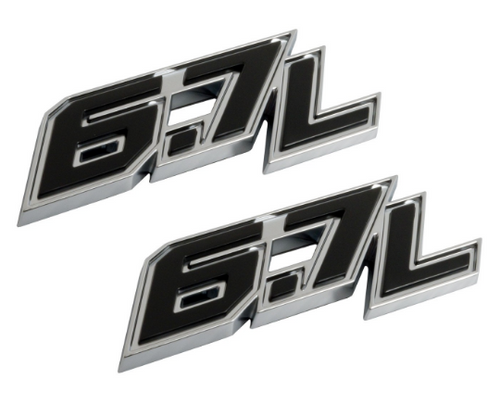 2018 FORD F350 SUPER DUTY 67L DOOR EMBLEM SET Image