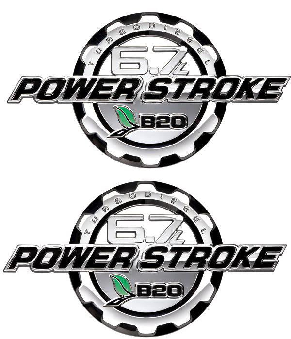 Powerstroke Diesel 6.7L Chrome Door Emblem Set 2011 2013 - FordPartsOne