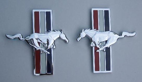 Mustang Pony Package Fender Emblem Set - FordPartsOne