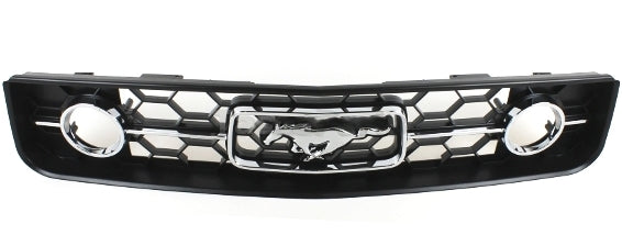 Mustang Black Radiator Grille With Pony Emblem 2005 2006 2007 2008 2009 - FordPartsOne