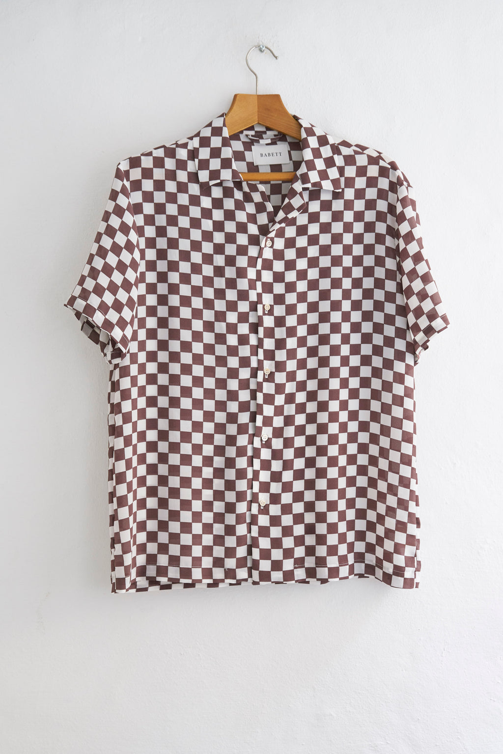 CHESS DARK BROWN SHIRT