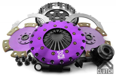XClutch Clutch Kit with Chromoly Flywheel + HRB 9-Inch and Twin Solid Ceramic Clutch Discs Ford