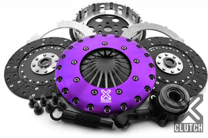 XClutch Clutch Kit with Chromoly Flywheel + HRB 9-Inch and Twin Solid Organic Clutch Discs Ford