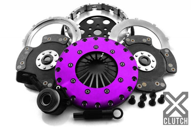 XClutch Clutch Kit with Chromoly Flywheel + HRB 9-Inch and Twin Carbon Blade Clutch Discs Ford