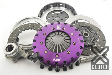 XClutch Clutch Kit with Chromoly Flywheel + HRB 9-Inch and Twin Sprung Organic Clutch Discs Ford