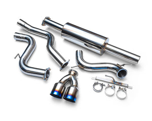 Agency Power Stainless Steel Catback Exhaust with Dual Titanium Tips Ford Focus ST 13-19