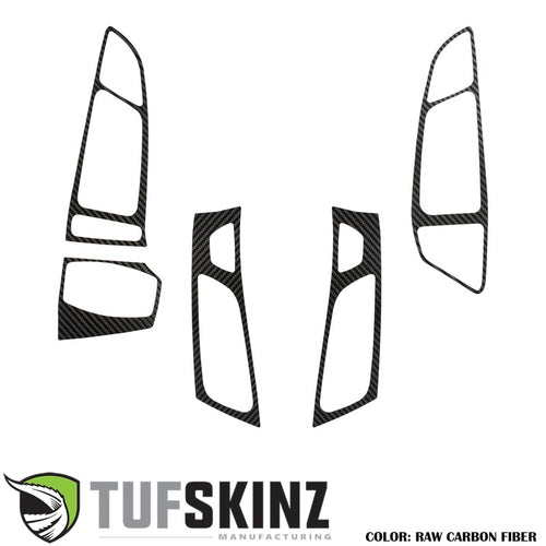 Tufskinz Interior Air Vents Accent Trim Fits 16-18 Ford Focus RS 5 Piece Kit in Raw Real Carbon Fiber