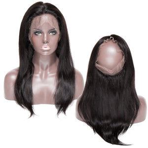 "360 Closures Lace Frontal 360 Lace Closure Straight Hair 8"" to 18"" - Enchant Global"