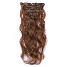 "Load image into Gallery viewer, 16"" Real Clip in Hair Extensions Bodywave (11 colors) - Enchant Global"