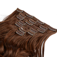 "Load image into Gallery viewer, 18"" Real Clip in Hair Extensions (11 colors) - Enchant Global"