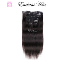 "Load image into Gallery viewer, 22"" Real Clip in Hair Extensions (11 colors) - Enchant Global"