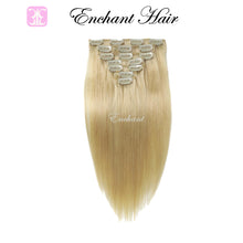 "Load image into Gallery viewer, 20"" Real Clip in Hair Extensions (11 colors) - Enchant Global"