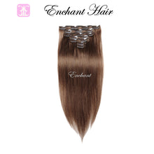 "Load image into Gallery viewer, 16"" Real Clip in Hair Extensions (11 colors) - Enchant Global"