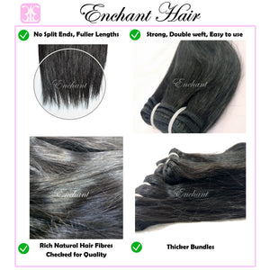 "Peruvian Hair 3Bundles + Free Closure (10"" - 30"") - Enchant Global"
