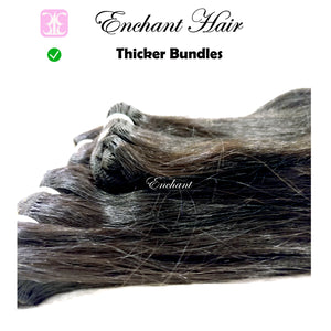 16 inch Straight Hair 3 Bundles + Closure - Enchant Global