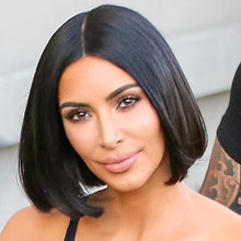Load image into Gallery viewer, 12 inch Human Hair Bob Wigs Kim K Style - Enchant Global