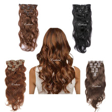 "Load image into Gallery viewer, 20"" Real Clip in Hair Extensions Bodywave (11 colors) - Enchant Global"