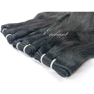 "24"" Straight Hair 3 Bundles + Closure - Enchant Global"