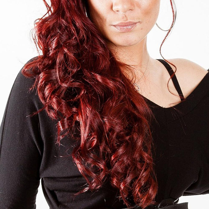 Red Hair Wavy Loose Curls Wig 16