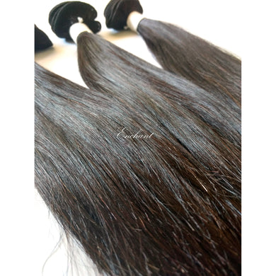8 inch Straight Hair 3 Bundles + Closure - Enchant Global