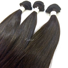 Load image into Gallery viewer, 18 inch Straight Hair 3 Bundles + Closure - Enchant Global