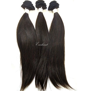 24 inch Straight Hair 3 Bundles + Closure - Enchant Global